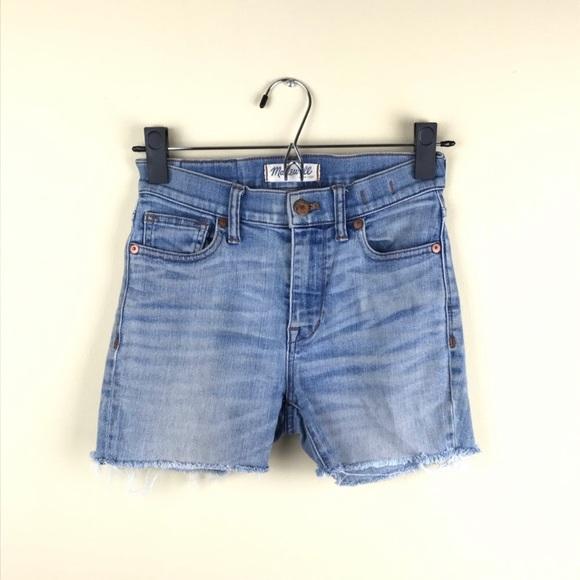 98afa197e5 Madewell Shorts | High Riser Skinny Cut Off Jean 24 | Poshmark